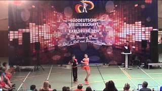 Tanja Wandera & Pascal Lenz - Süddeutsche Meisterschaft 2014