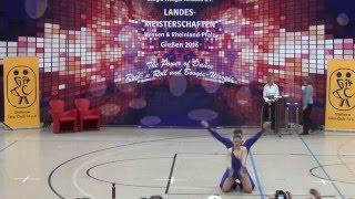 Christina Bischoff-Moos & Lukas Moos - Landesmeisterschaft Hessen, Rlp, Saarland 2016