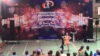 Anja Westermayer & Lorenz Rädler - Süddeutsche Meisterschaft 2014