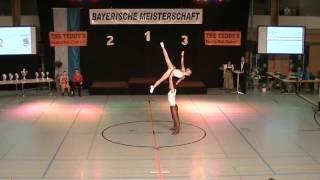 Franziska Schmidt & Paul Weiland - Landesmeisterschaft Bayern 2016
