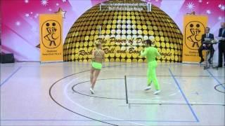Nicole Kalb & Alexander Kapsalis - Landesmeisterschaft Hessen 2013-14