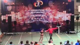 Julia Geishauser & Patrick Pfaller  - Süddeutsche Meisterschaft 2014