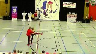 Laura Loy & Nils Zobel - Landesmeisterschaft Bayern 2015