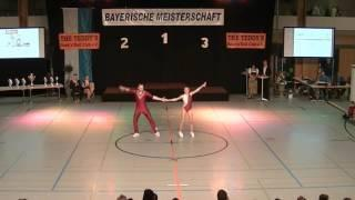 Nina Stahl & Michael Federl - Landesmeisterschaft Bayern 2016